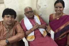 With Mridangam legend Shri T K Murthy