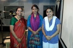 making tunes with the nightingale Kavitha Krishnamuthy ji along with the dashing Malavika Avinash